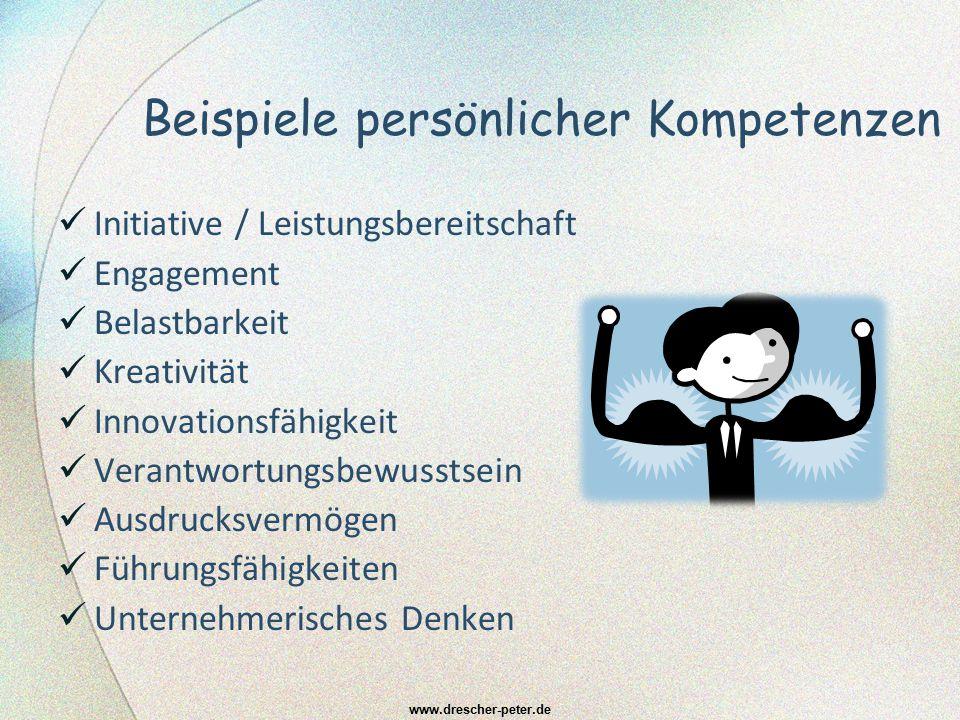 Beispiele sozialer Kompetenzen Kommunikations- Team- Kooperations- Motivations- Kritik- Integrations- Fähigkeiten }