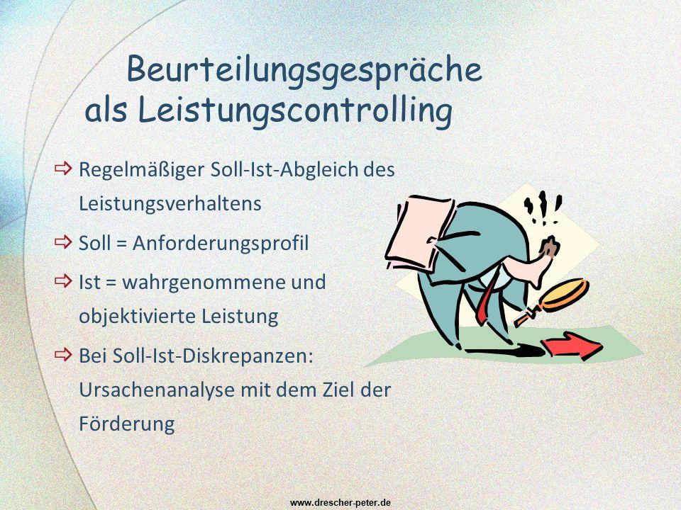 Die Leistung des/r Beurteilenden www.drescher-peter.de