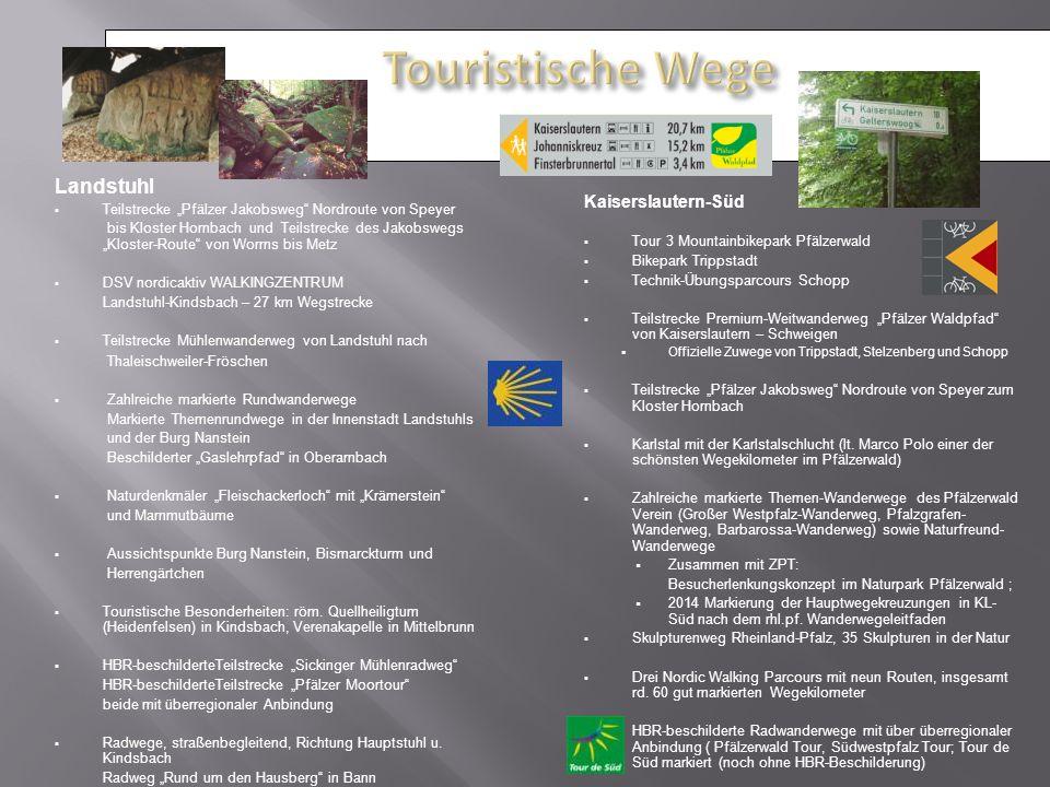 """Landstuhl  Teilstrecke """"Pfälzer Jakobsweg"""" Nordroute von Speyer bis Kloster Hornbach und Teilstrecke des Jakobswegs """"Kloster-Route"""" von Worms bis Met"""