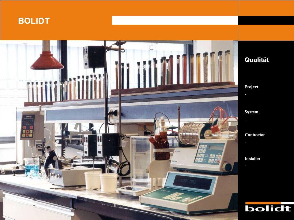 System Contractor Installer Project BOLIDT Lagerraum Bolidt Bolidtop ® 700 Bolidt