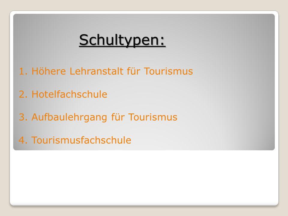 Schultypen: 1. Höhere Lehranstalt für Tourismus 2.