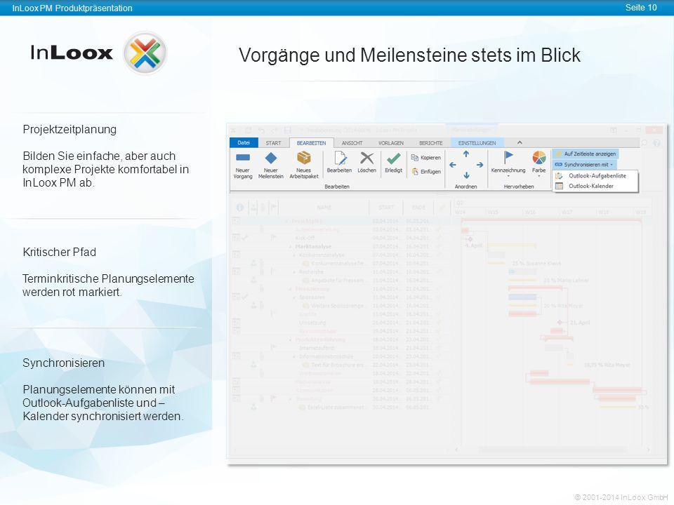 InLoox PM Produktpräsentation Seite 10 InLoox PM Produktpräsentation © 2001-2011 InLoox GmbH InLoox PM Produktpräsentation Seite 10 © 2001-2014 InLoox
