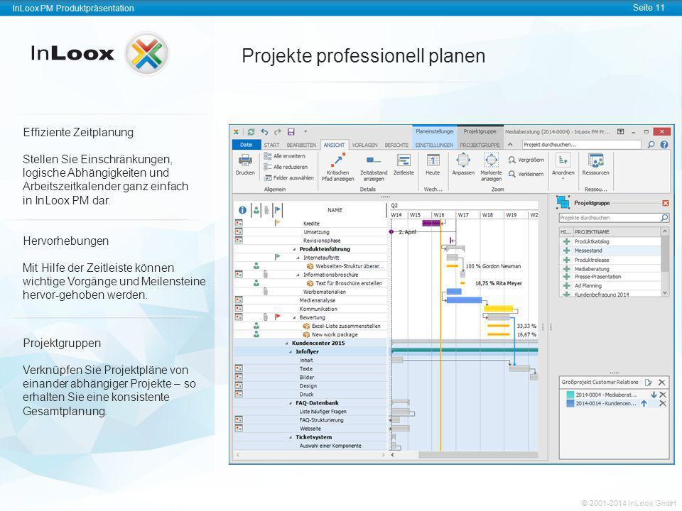 InLoox PM Produktpräsentation Seite 11 InLoox PM Produktpräsentation © 2001-2011 InLoox GmbH InLoox PM Produktpräsentation Seite 11 © 2001-2014 InLoox