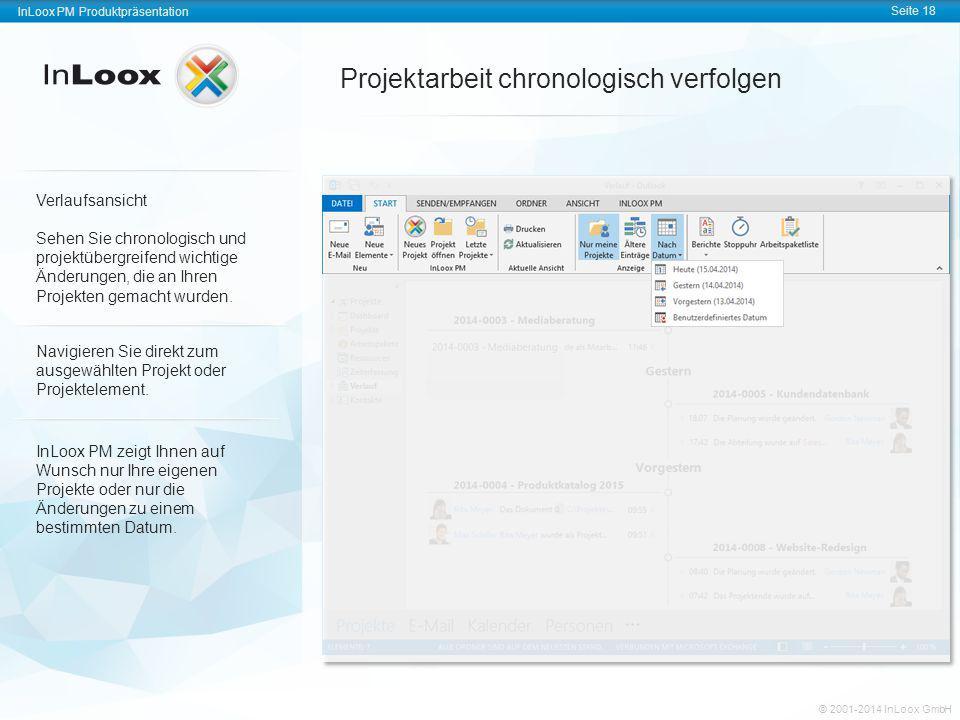 InLoox PM Produktpräsentation Seite 18 InLoox PM Produktpräsentation © 2001-2011 InLoox GmbH InLoox PM Produktpräsentation Seite 18 © 2001-2014 InLoox