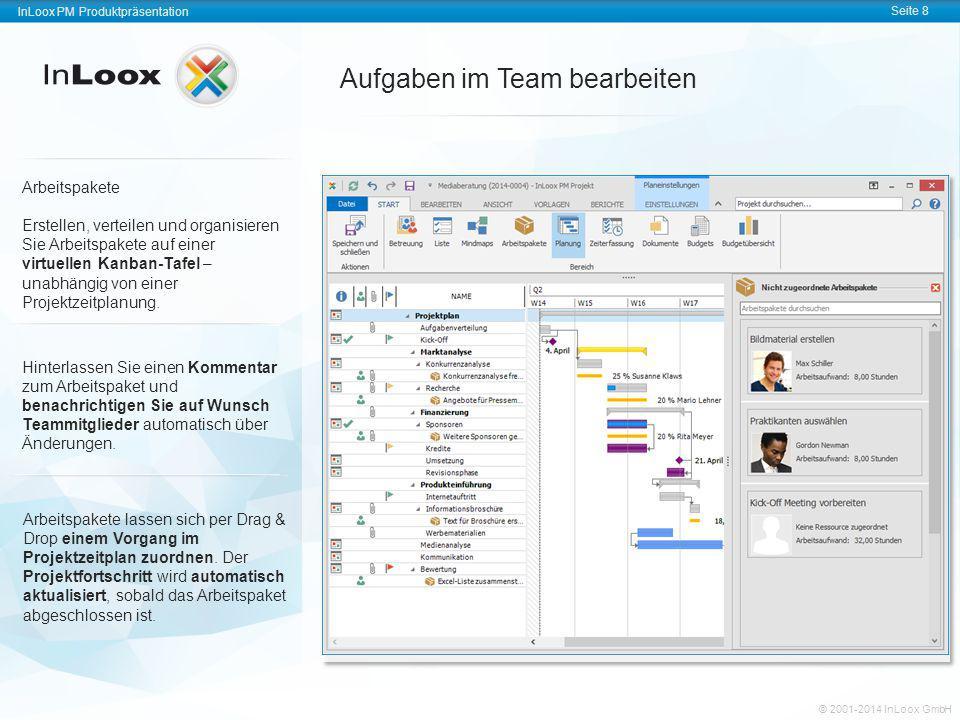 InLoox PM Produktpräsentation Seite 8 InLoox PM Produktpräsentation © 2001-2011 InLoox GmbH InLoox PM Produktpräsentation Seite 8 © 2001-2014 InLoox G