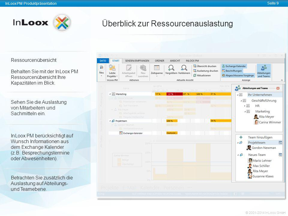 InLoox PM Produktpräsentation Seite 9 InLoox PM Produktpräsentation © 2001-2011 InLoox GmbH InLoox PM Produktpräsentation Seite 9 © 2001-2014 InLoox G