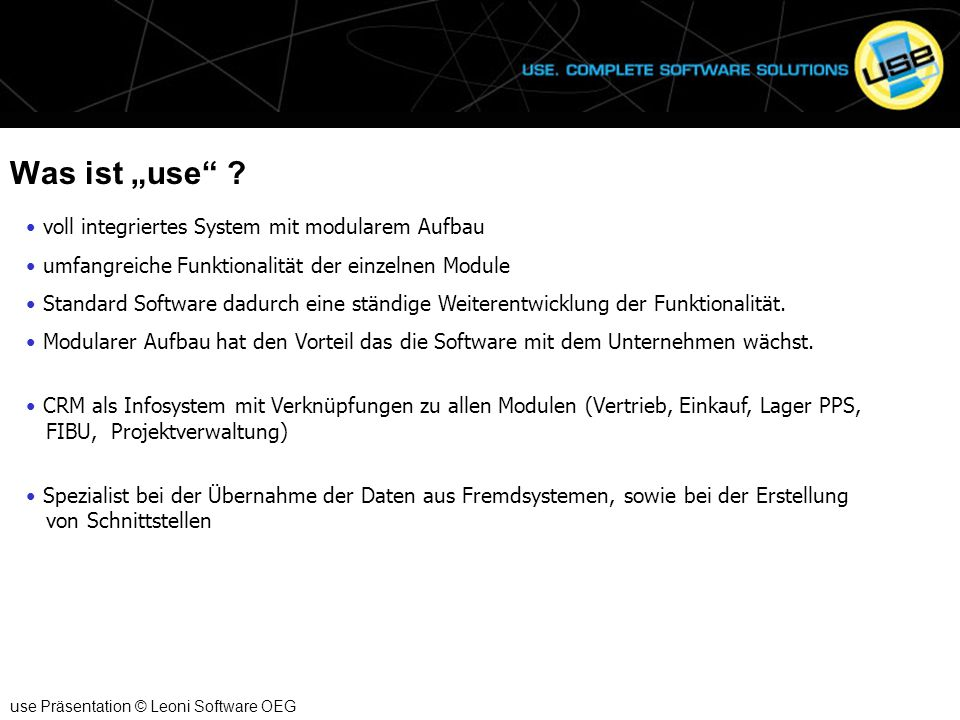 """Was ist """"use ."""