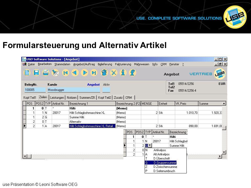 Leistungen use Präsentation © Leoni Software OEG