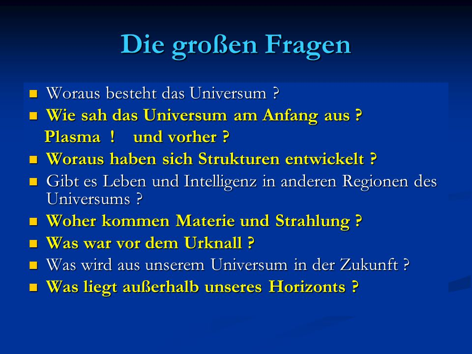 Friedmann Gleichung Mit Friedmann Gleichung Mit Friedmann Gleichung läßt sich Evolution des läßt sich Evolution des Universums einfach Universums einfach verstehen verstehen Spezialfall der Spezialfall der Einstein Gleichung Einstein Gleichung