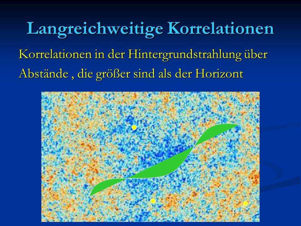 Langreichweitige Korrelationen Korrelationen in der Hintergrundstrahlung über Abstände, die größer sind als der Horizont