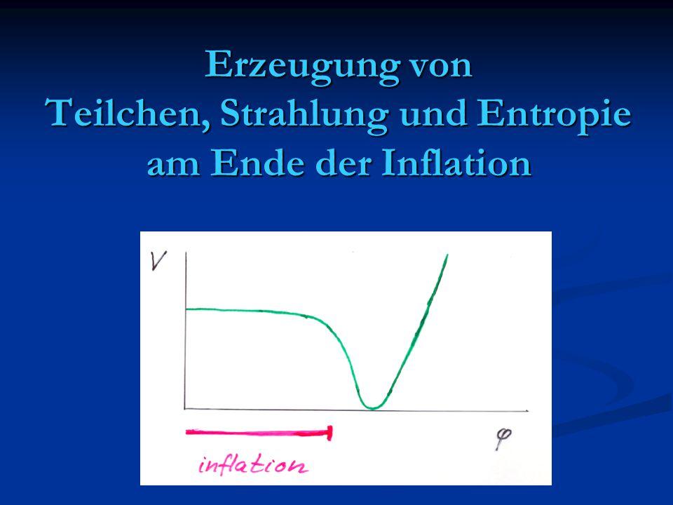 Erzeugung von Teilchen, Strahlung und Entropie am Ende der Inflation