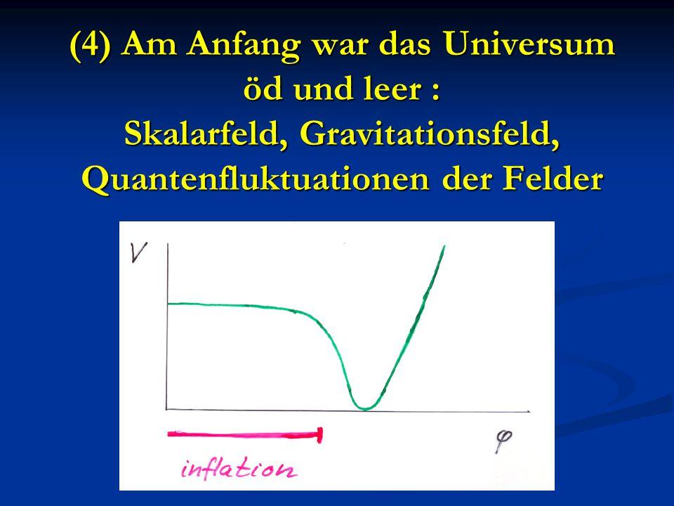 (4) Am Anfang war das Universum öd und leer : Skalarfeld, Gravitationsfeld, Quantenfluktuationen der Felder