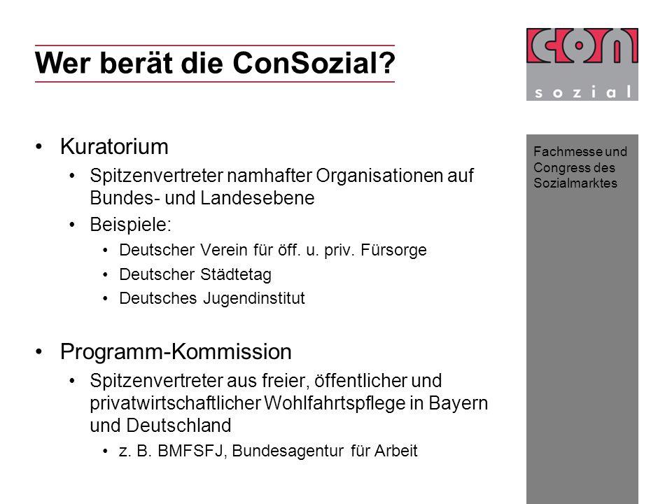 Fachmesse und Congress des Sozialmarktes Wer berät die ConSozial.