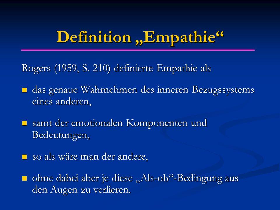 """Definition """"Empathie Rogers (1959, S."""