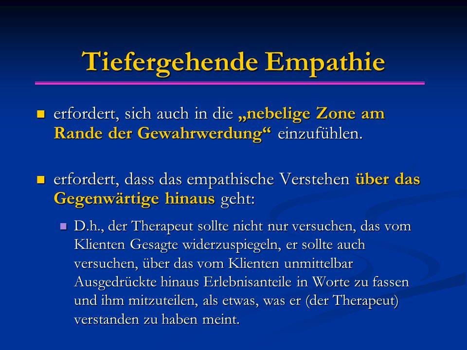 """Tiefergehende Empathie erfordert, sich auch in die """"nebelige Zone am Rande der Gewahrwerdung einzufühlen."""
