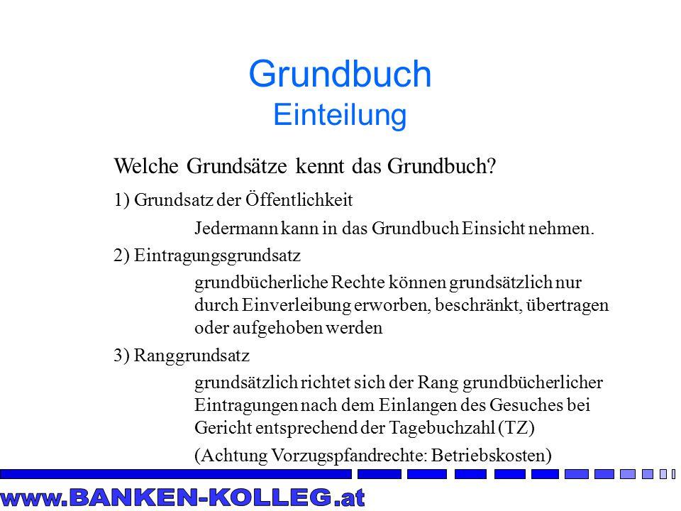 Grundbuch Einteilung Welche Grundsätze kennt das Grundbuch.