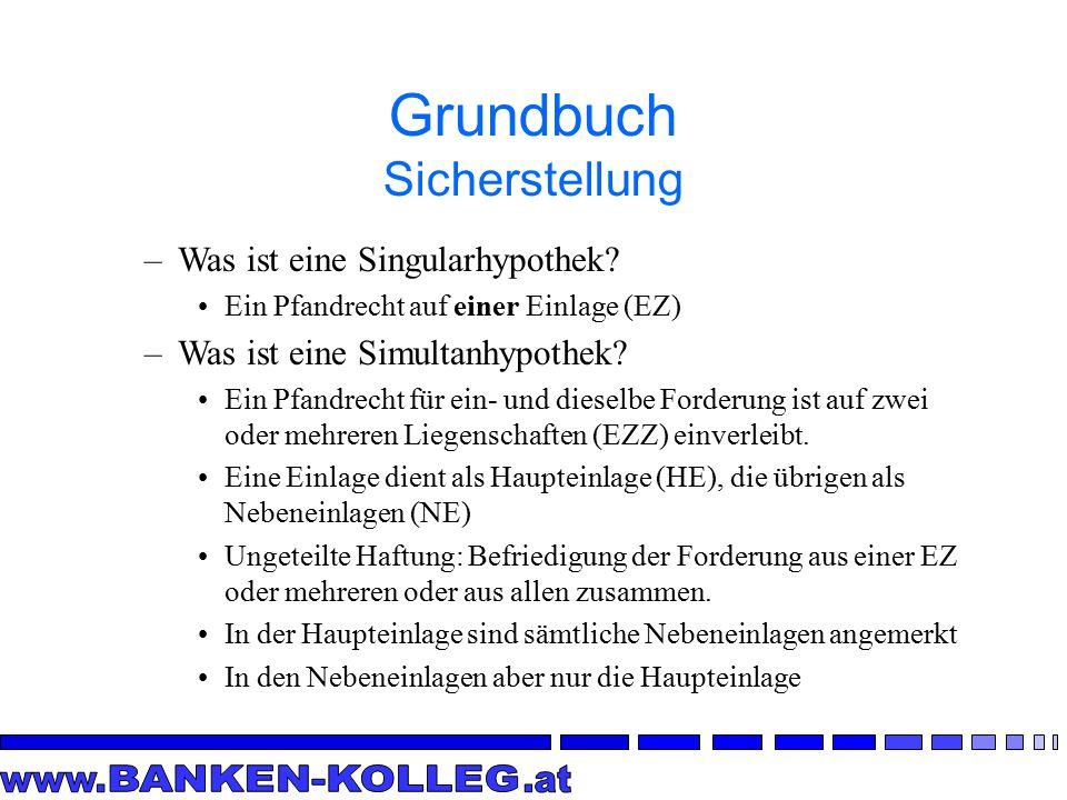 Grundbuch Sicherstellung –Was ist eine Singularhypothek.
