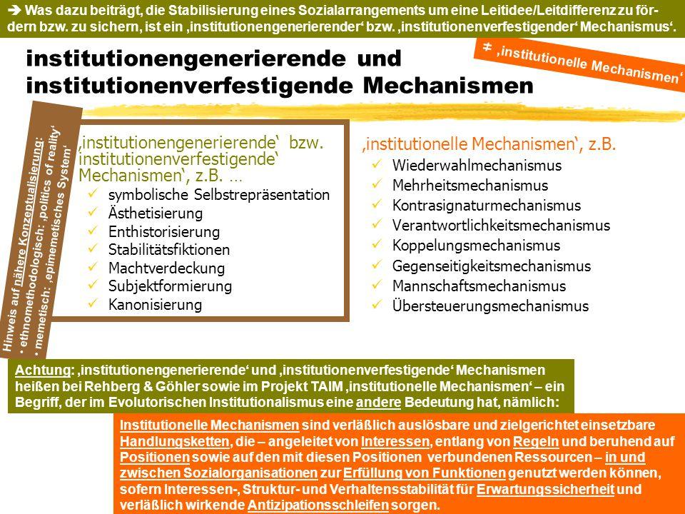 TU Dresden – Institut für Politikwissenschaft – Prof. Dr. Werner J. Patzelt Hinweis auf nähere Konzeptualisierung: ethnomethodologisch: 'politics of r