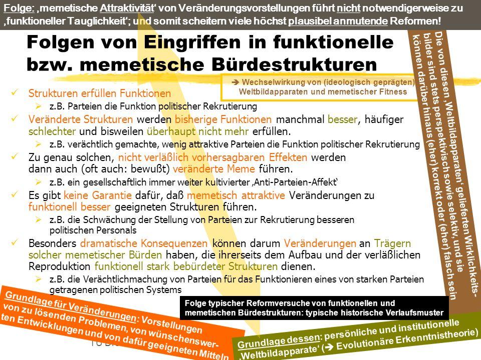 TU Dresden – Institut für Politikwissenschaft – Prof. Dr. Werner J. Patzelt  Wechselwirkung von (ideologisch geprägten) Weltbildapparaten und memetis