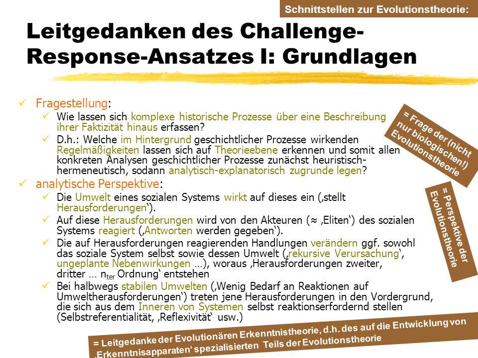 TU Dresden – Institut für Politikwissenschaft – Prof. Dr. Werner J. Patzelt Leitgedanken des Challenge- Response-Ansatzes I: Grundlagen Fragestellung: