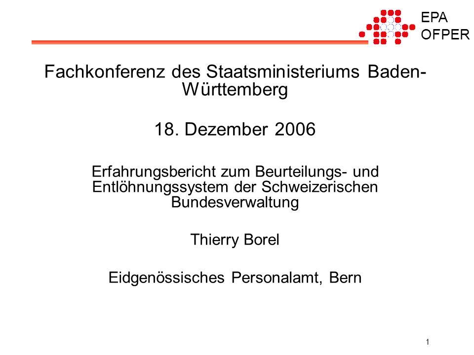EPA OFPER 1 Fachkonferenz des Staatsministeriums Baden- Württemberg 18.