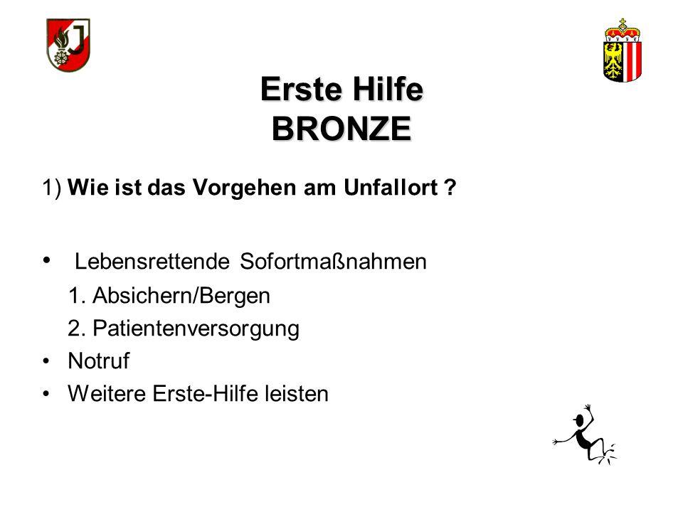 WISSENSTEST FÜR DIE FEUERWEHRJUGEND OBERÖSTERREICH STATION: Erste Hilfe Bronze