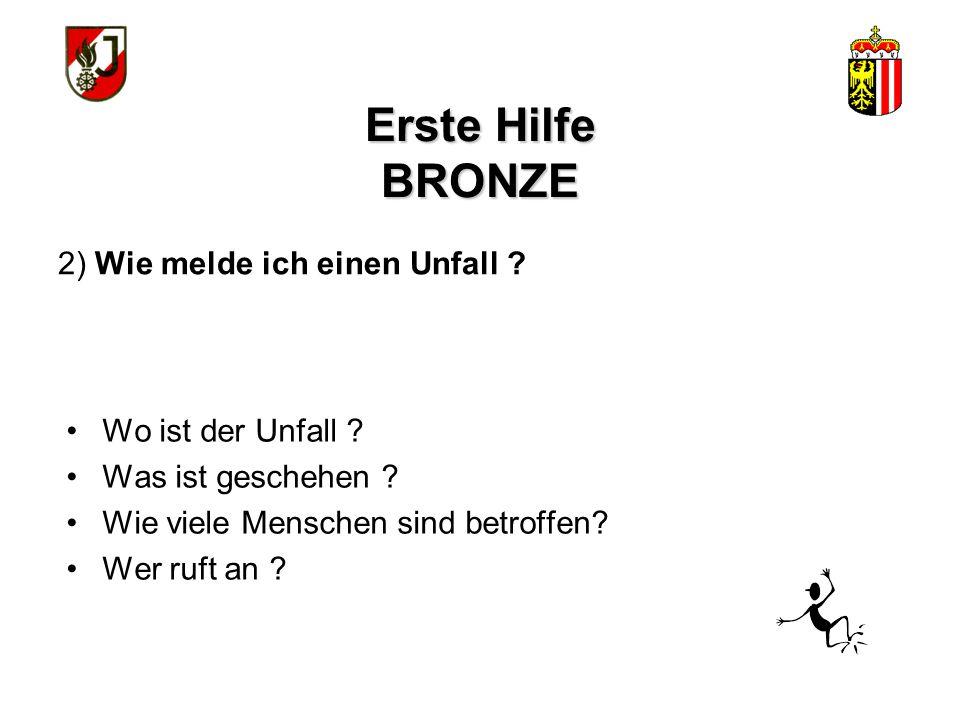 Erste Hilfe BRONZE Lebensrettende Sofortmaßnahmen 1.