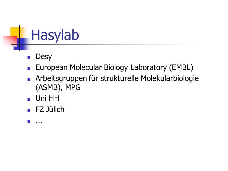 Desy European Molecular Biology Laboratory (EMBL) Arbeitsgruppen für strukturelle Molekularbiologie (ASMB), MPG Uni HH FZ Jülich...