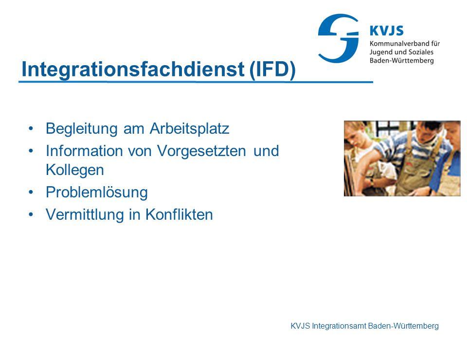 KVJS Integrationsamt Baden-Württemberg Begleitung am Arbeitsplatz Information von Vorgesetzten und Kollegen Problemlösung Vermittlung in Konflikten In