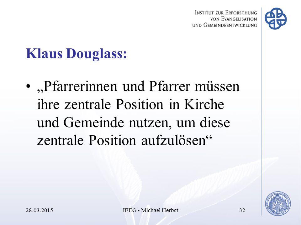 """Klaus Douglass: """"Pfarrerinnen und Pfarrer müssen ihre zentrale Position in Kirche und Gemeinde nutzen, um diese zentrale Position aufzulösen"""" 28.03.20"""