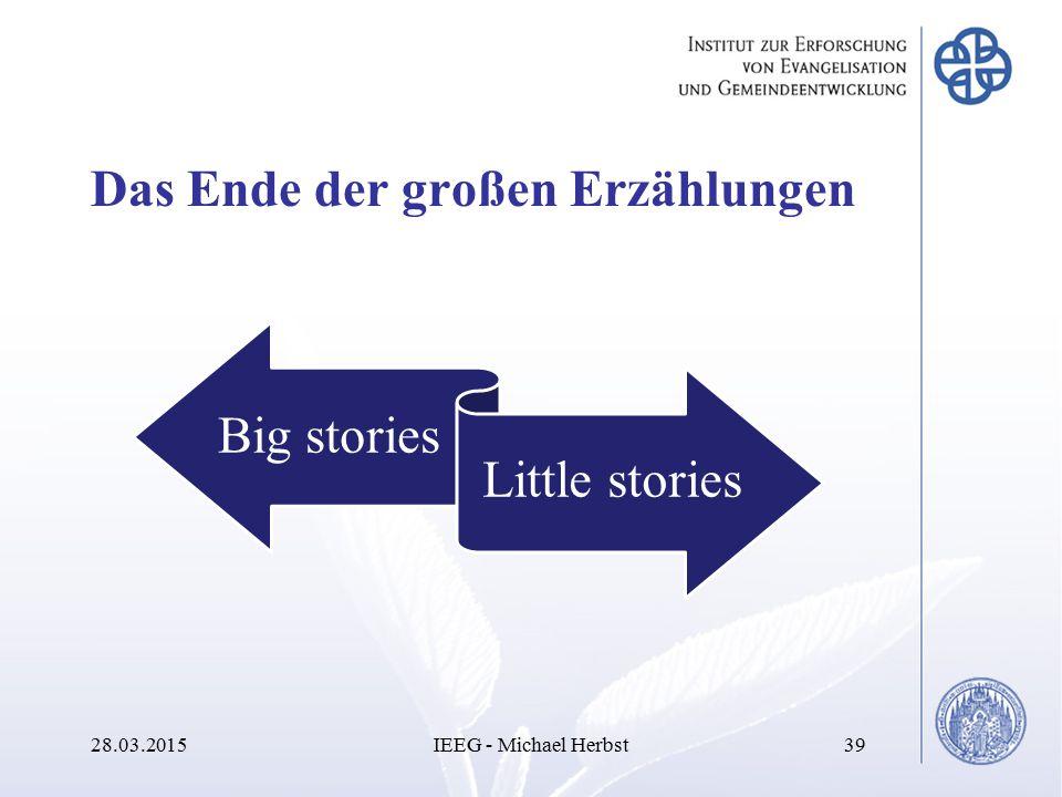 Das Ende der großen Erzählungen 28.03.2015IEEG - Michael Herbst39