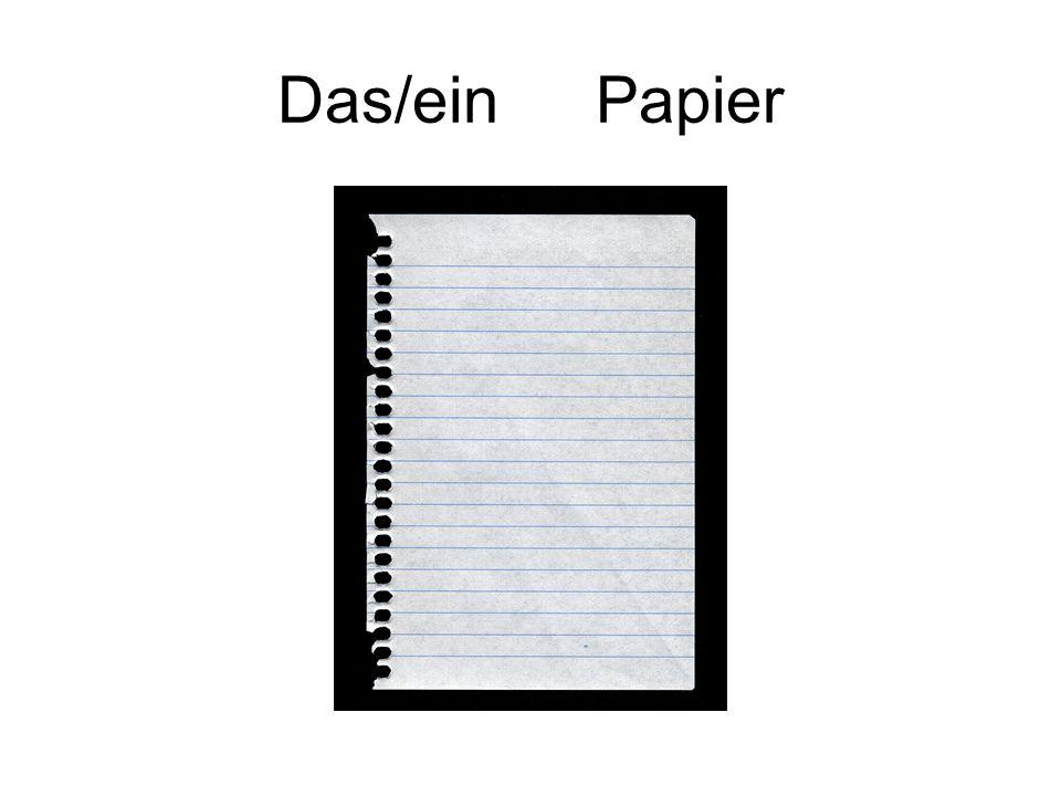 Das/ein Papier