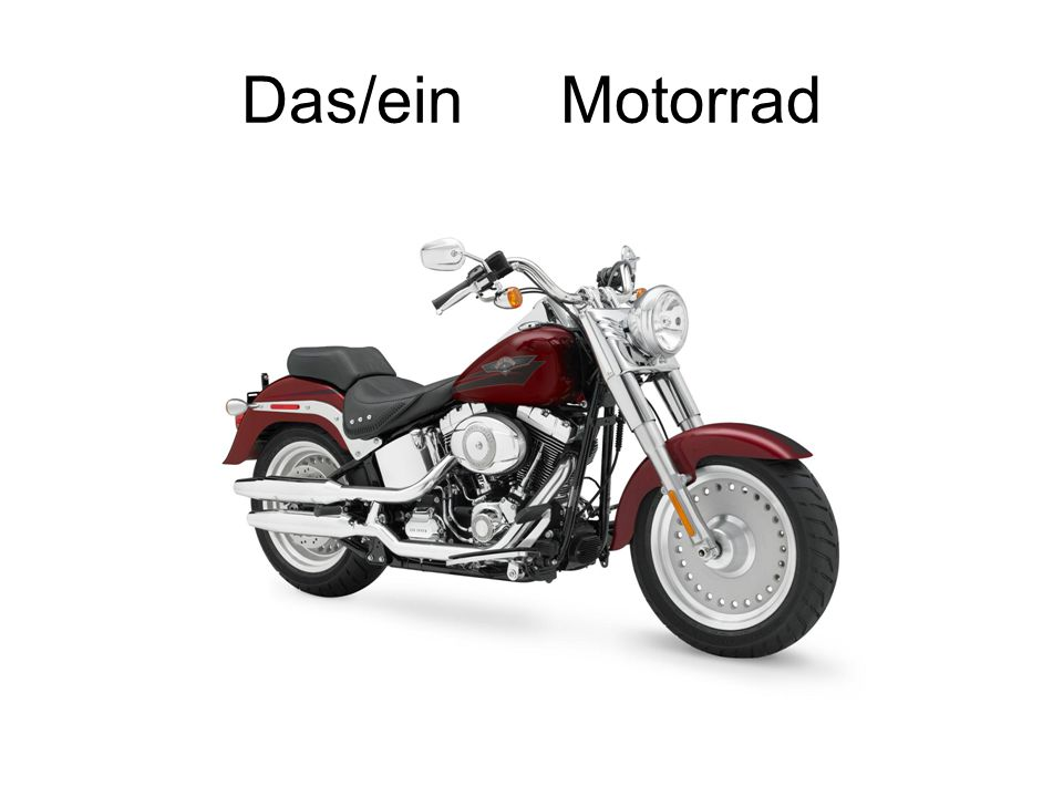 Das/ein Motorrad