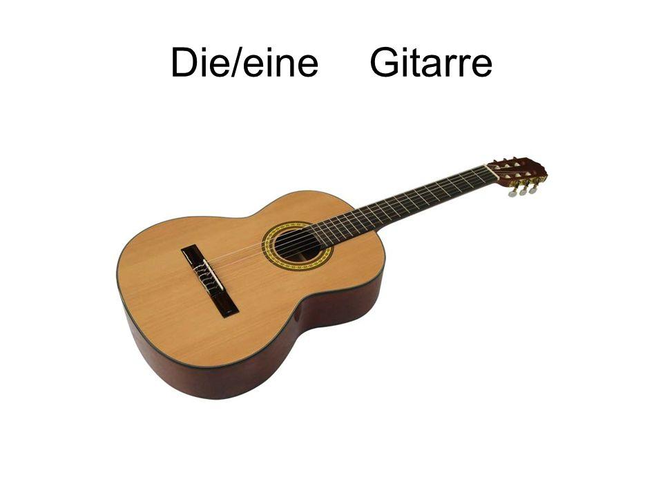 Die/eine Gitarre
