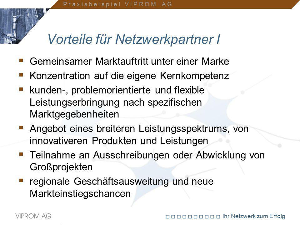 Ihr Netzwerk zum Erfolg Vorteile für Netzwerkpartner I  Gemeinsamer Marktauftritt unter einer Marke  Konzentration auf die eigene Kernkompetenz  ku