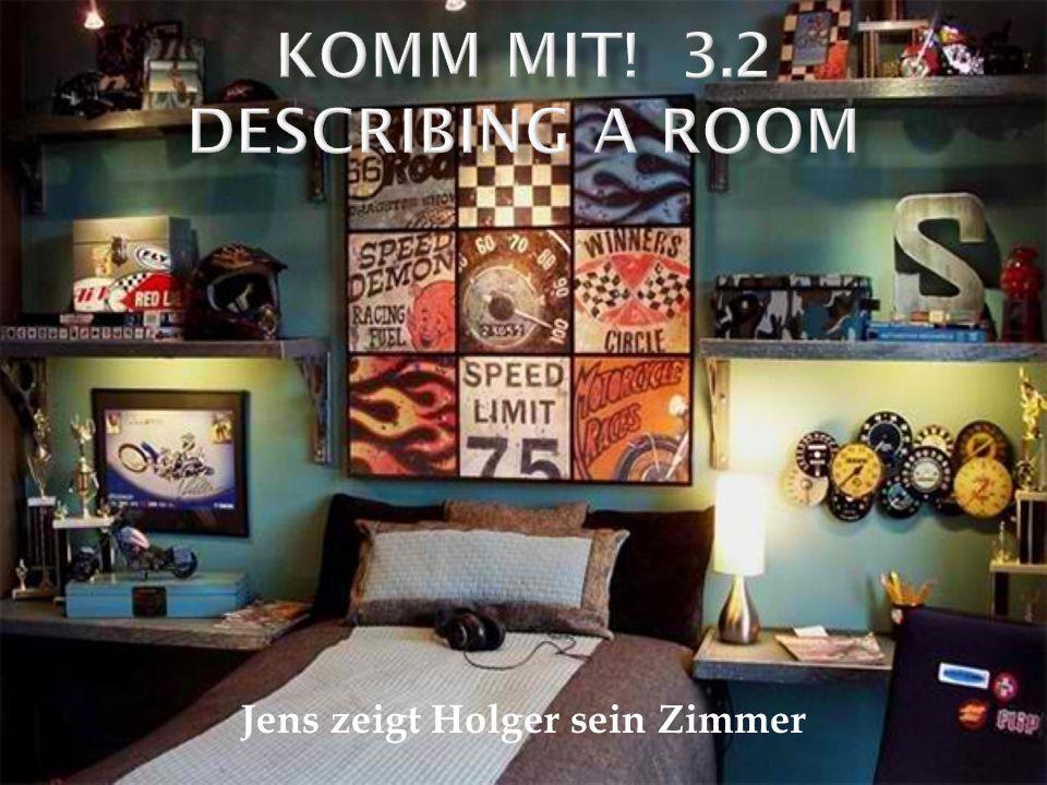 Jens zeigt Holger sein Zimmer