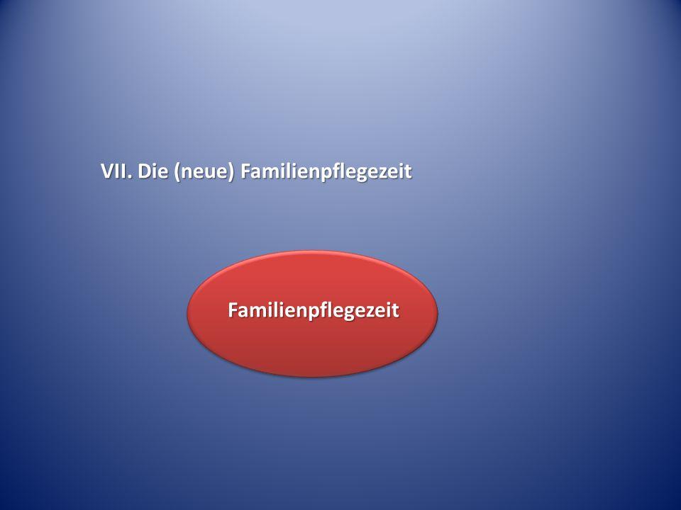 VII. Die (neue) Familienpflegezeit Familienpflegezeit