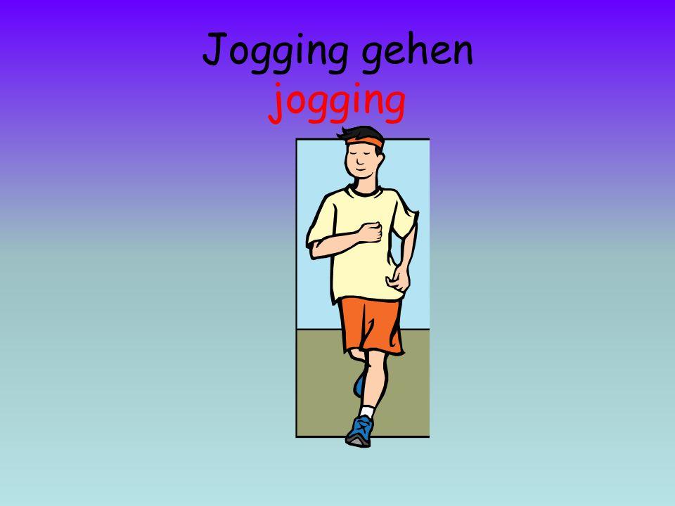 Jogging gehen jogging