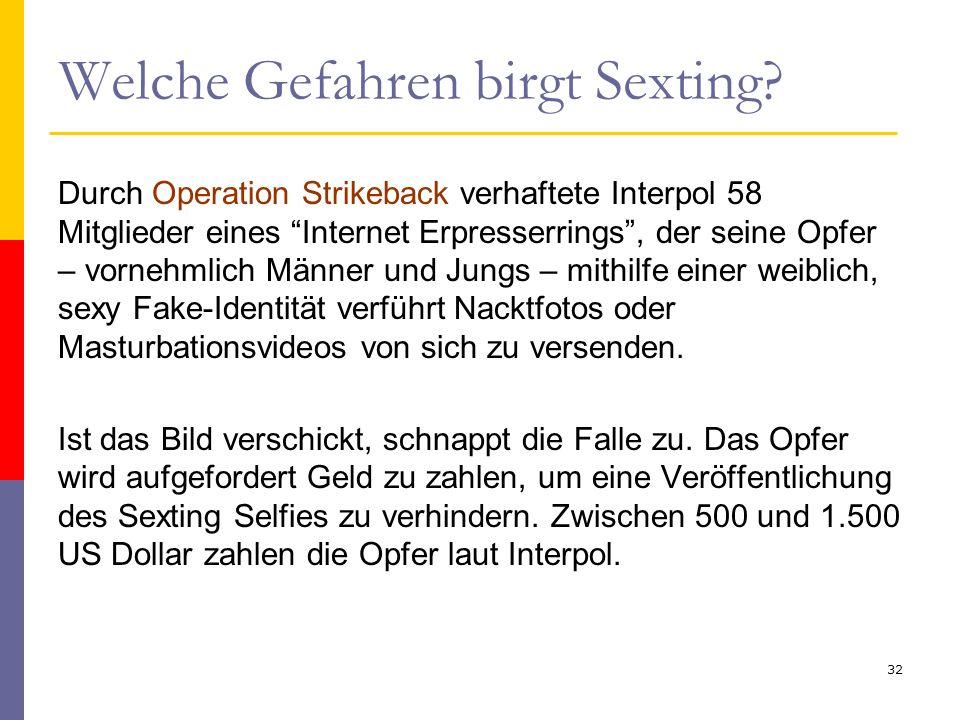 """Welche Gefahren birgt Sexting? Durch Operation Strikeback verhaftete Interpol 58 Mitglieder eines """"Internet Erpresserrings"""", der seine Opfer – vornehm"""