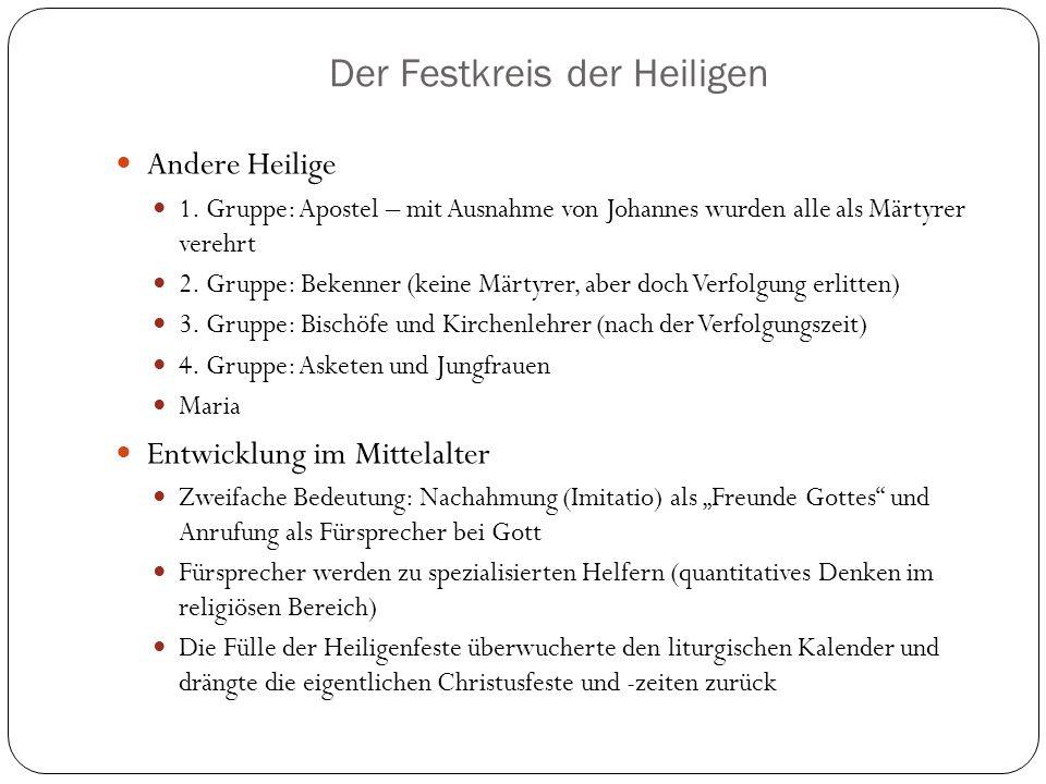 Der Festkreis der Heiligen Andere Heilige 1.