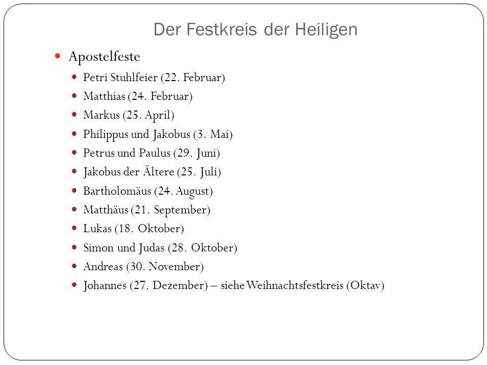 Der Festkreis der Heiligen Apostelfeste Petri Stuhlfeier (22.