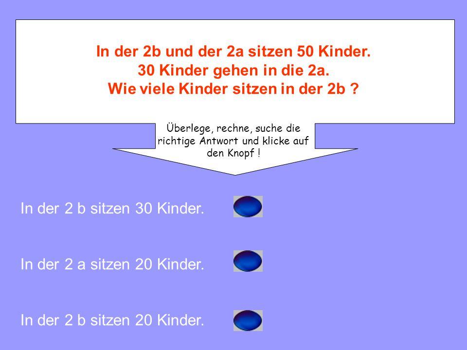 In der 2b und der 2a sitzen 50 Kinder.30 Kinder gehen in die 2a.