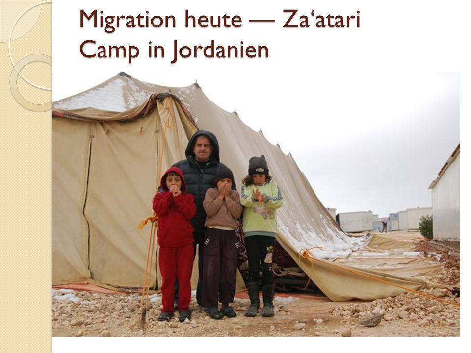 Migration heute — Za'atari Camp in Jordanien