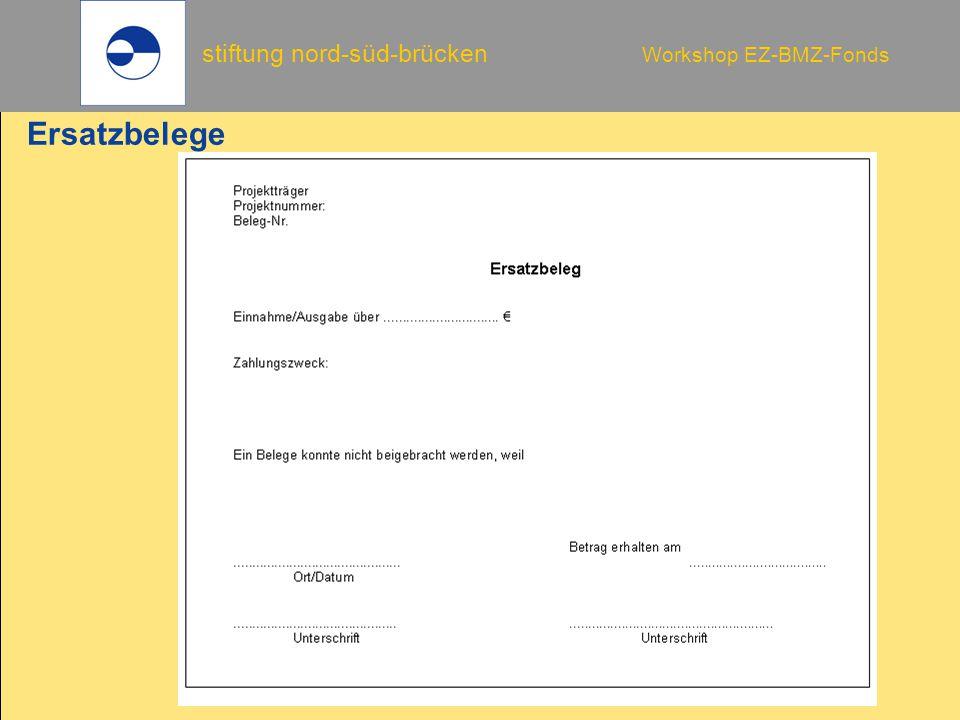 stiftung nord-süd-brücken Workshop EZ-BMZ-Fonds Ersatzbelege