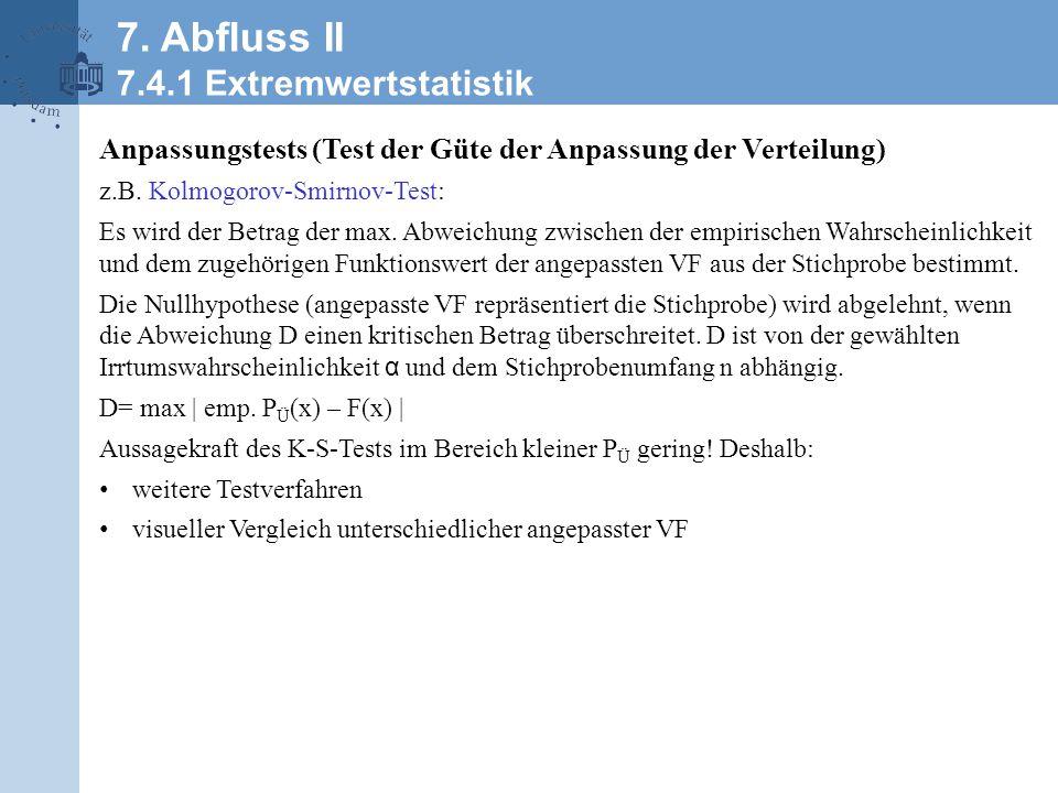 Beispiel: Abflussstatistik des Rheines bei Rees
