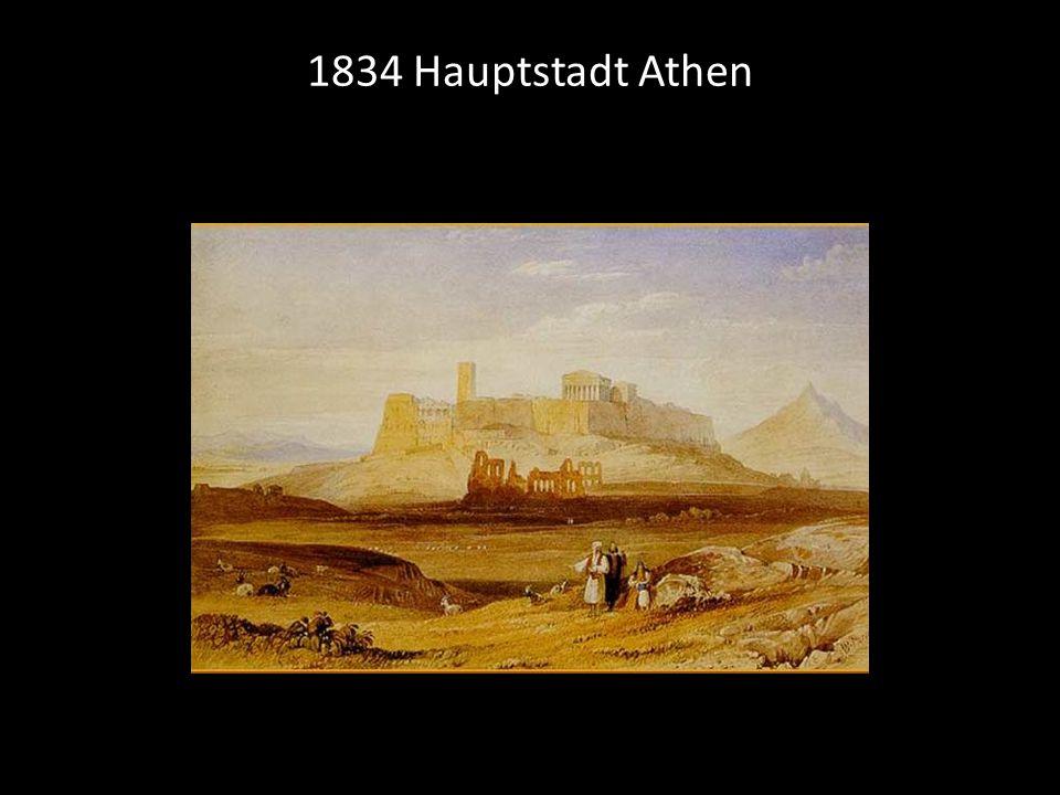1834 Hauptstadt Athen