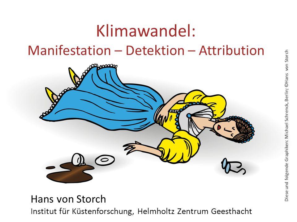 Diese und folgende Graphiken: Michael Schrenck, Berlin; ©Hans von Storch Klimawandel: Manifestation – Detektion – Attribution Hans von Storch Institut für Küstenforschung, Helmholtz Zentrum Geesthacht 6.