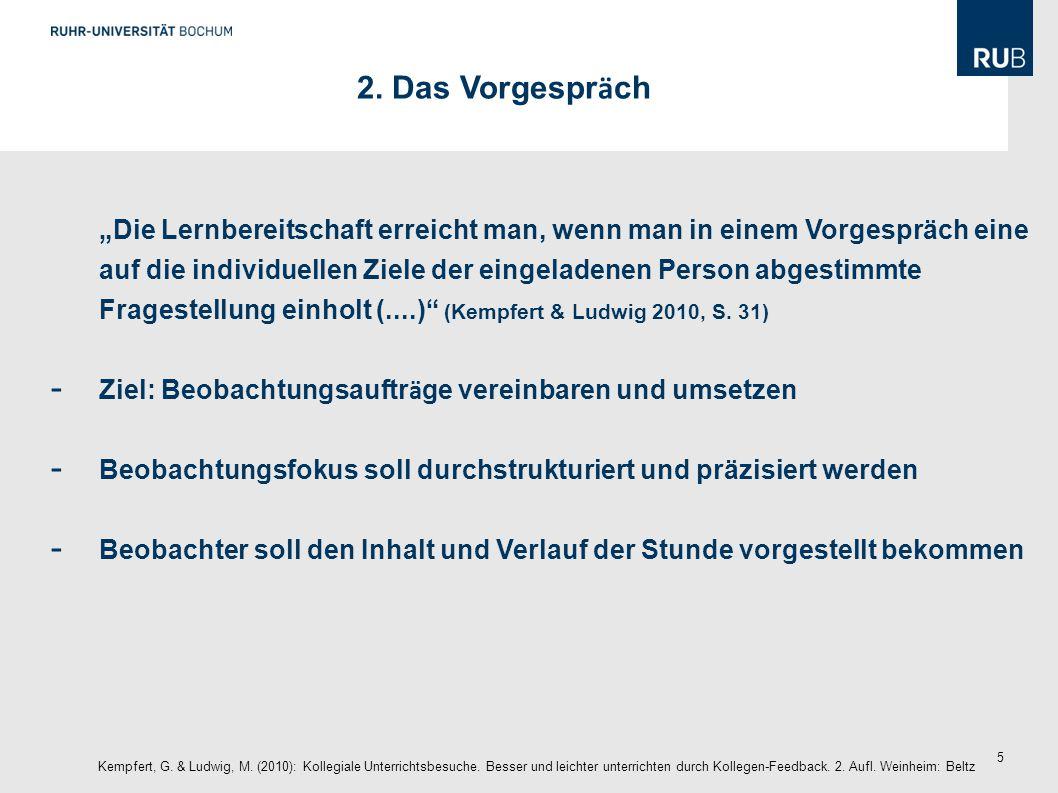 26 Checkliste Kempfert, G.& Ludwig, M. (2010): Kollegiale Unterrichtsbesuche.