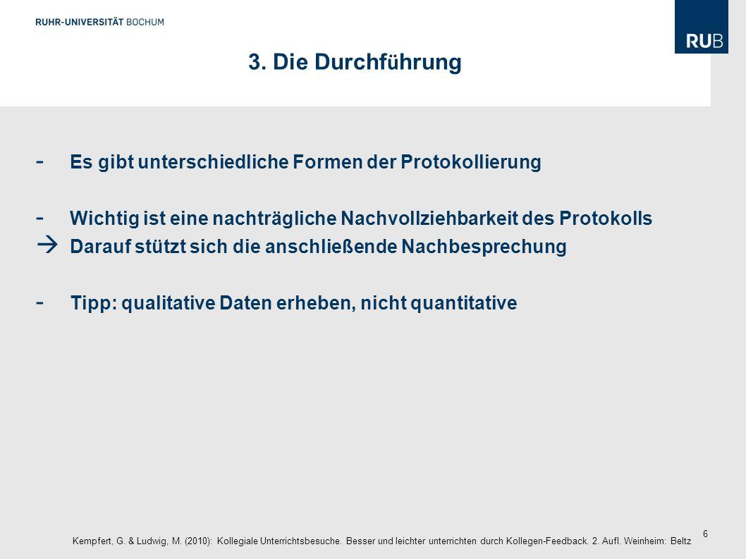 27 Checkliste Kempfert, G.& Ludwig, M. (2010): Kollegiale Unterrichtsbesuche.