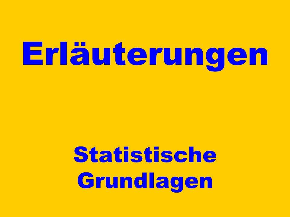 Erläuterungen Statistische Grundlagen